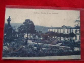 Tarxeta postal: Noia (Noya) - Detalles dos Xardíns de Felipe de Castro. 1920 - Ver os detalles do produto