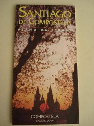PLANO DE SANTIAGO DE COMPOSTELA. Gran formato: 65 x 90 cm, en color - Ver os detalles do produto