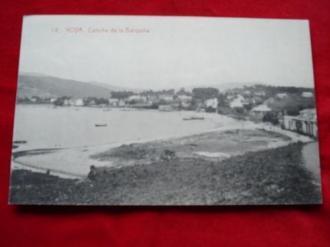 Tarxeta postal: Noia (Noya)- Praia da Barquiña. 1920 - Ver os detalles do produto