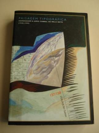 COLÓQUIO LETRAS. Revista bimestral. Número 157 - 158. Julho-Decembro 2000. Homenagem a Joâo Cabral de Melo Neto - Ver os detalles do produto