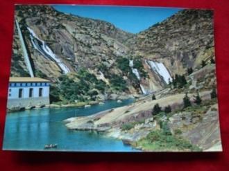 Tarxeta postal: Fervenza e central eléctrica do Ézaro (A Coruña) Anos 70 - Ver os detalles do produto