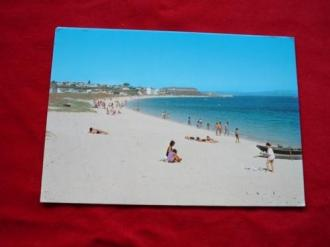 Tarxeta postal: Aguiño (Ribeira- A Coruña). Praia da Catia. Anos 70 - Ver os detalles do produto