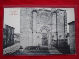 Tarxeta postal: Noia (Noya) -Igrexa de San Martiño. 1920 - Ver os detalles do produto