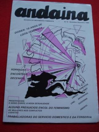 ANDAINA. Revista do Movimento Feminista. 1ª época. Nº 8. Novembro-Decembro 1985 - Ver os detalles do produto