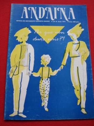 ANDAINA. Revista do Movimento Feminista. 1ª época. Nº 24. Xuño 1991 - Ver os detalles do produto
