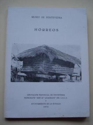 Hórreos. Sobre los hórreos. Tres trabajos de estudiantes. Separta de El Museo de Pontevedra, tomo XXVIII - Ver os detalles do produto