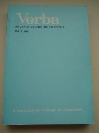 VERBA. Anuario Galego de Filoloxía. Vol. 7, 1980 - Ver os detalles do produto