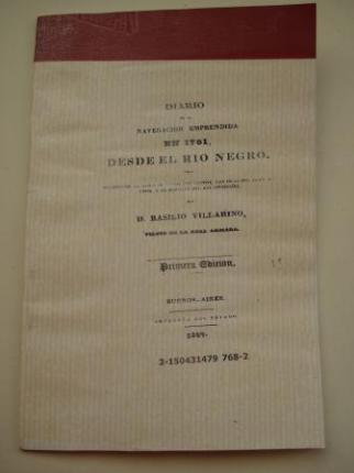 Diario de la navegación emprendida en 1781 desde el río Negro por Basilio Villarino (Basilio Vilariño) - Ver os detalles do produto