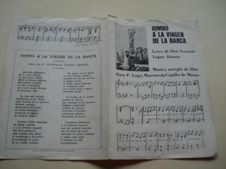Himno a la Virgen de la Barca (partitura) - Ver os detalles do produto
