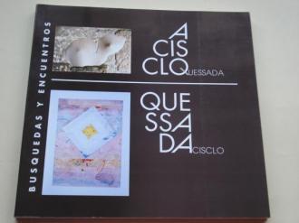 Aclisco Quessada / Quessada Acisclo. `Búsquedas y encuentros´. Catálogo Exposición Sala Municipal de Exposiciones Estación Marítima, A Coruña, Maio 1990 (Escultura - Pintura) - Ver os detalles do produto