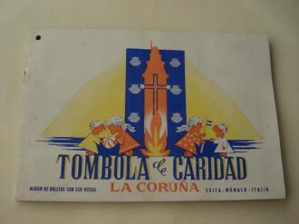 Tómbola de caridad (La Coruña). Álbum de boletos con 240 vistas: Suiza - Mónaco - Italia  - Ver os detalles do produto