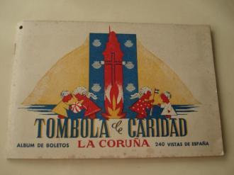 Tómbola de caridad (La Coruña). Álbum de boletos con 240 vistas de España (Completo) - Ver os detalles do produto