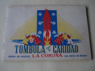 Tómbola de caridad (La Coruña). Álbum de boletos con 240 vistas de Bélgica (Faltan 7 cromos) - Ver os detalles do produto
