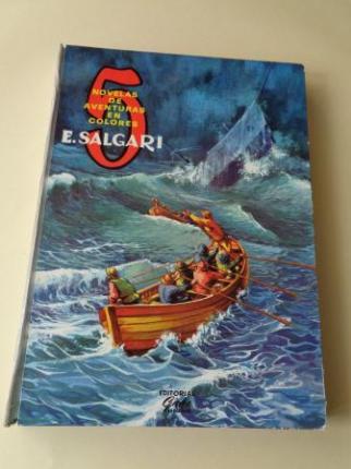5 novelas de aventuras: El águila blanca - Un héroe persa - El tigre del mar - Lluvia de fuego - En la costa de oro (Ilustrados en color) - Ver os detalles do produto