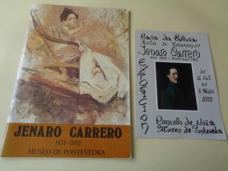JENARO CARRERO 1874-1902. Catálogo Exposición Museo de Pontevedra, 1987 + Tríptico de Exposición en Noia, 1993 - Ver os detalles do produto