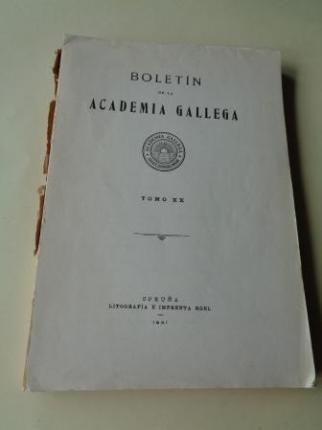 BOLETÍN DE LA ACADEMIA GALLEGA. Tomo XX. 1931 (Números 235 a 240). Intonso - Ver os detalles do produto