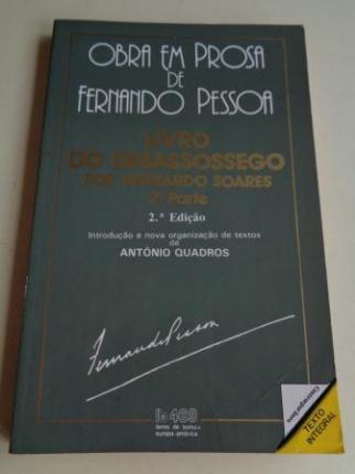 Livro do desassossego por Bernardo Soares 2ª parte - Ver os detalles do produto