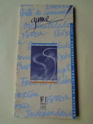 GUME. Nº 1. 1995. Revistade lingua, literatura e arte - Ver os detalles do produto
