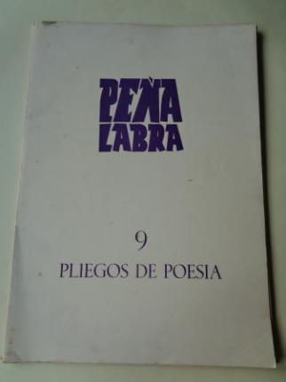 PEÑA LABRA. Pliegos de poesía, nº 9. Otoño 1973. Carpeta con 5 cuadernos en pliegos - Ver os detalles do produto