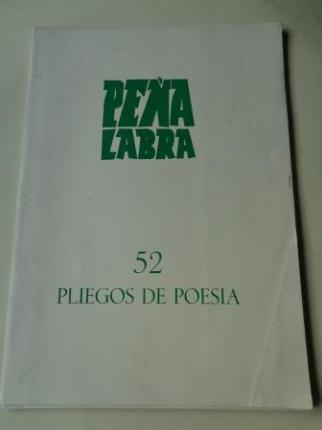 PEÑA LABRA. Pliegos de poesía, nº 52. Otoño 1984. Carpeta con 5 cuadernos en pliegos + 1 díptico - Ver os detalles do produto
