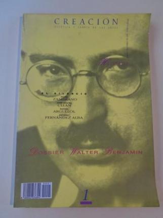 CREACIÓN. Estética y Teoría de las Artes. Número 1. Abril 1990. Imágenes del silencio / Dossier: Walter Benjamín - Ver os detalles do produto