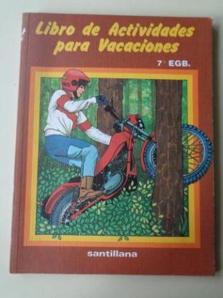 Libro de actividades para vacaciones. 7º E.G.B. Santillana - Ver os detalles do produto