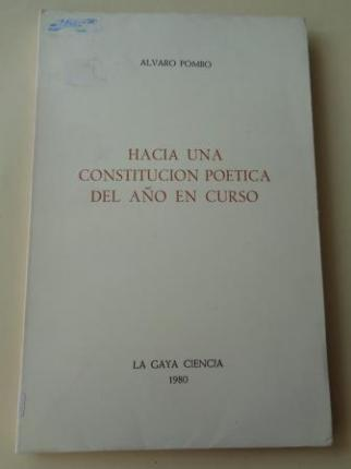 Hacia una constitución poética del año en curso - Ver os detalles do produto