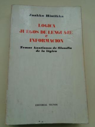 Lógica. Juegos de lenguaje e información. Temas kantianos de filosofía de la lógica - Ver os detalles do produto