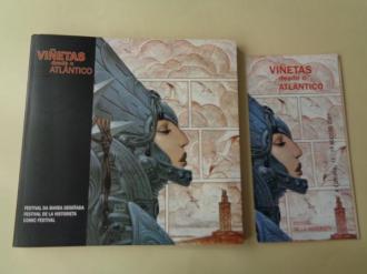 Viñetas desde o Atlántico. Festival da Banda Deseñada / Festival de la historieta / Comic Festival. A Coruña, agosto 2001. Catálogo + folleto - Ver os detalles do produto
