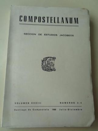 COMPOSTELLANUM. Sección de Ciencias Eclesiásticas. Volumen XXXIII, números 3-4. Julio-Diciembre, 1988 - Ver os detalles do produto