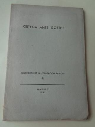 Ortega ante Goethe.  - Ver os detalles do produto