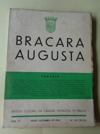 BRACARA AUGUSTA. Revista Cultural da Câmara Municipal de Braga. Julho - Dezembro 1954. (Vol. V - Nº 4-5 (29-30)) - Ver os detalles do produto