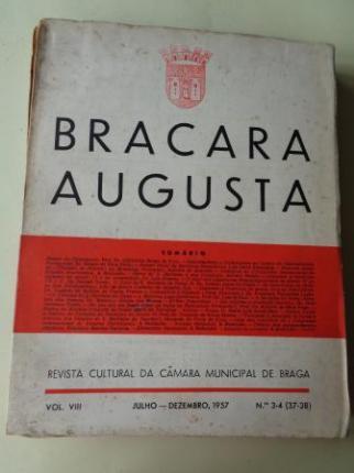 BRACARA AUGUSTA. Revista Cultural da Câmara Municipal de Braga. Julho - Dezembro 1957. (Vol. VIII - Nº 3-4 (37-38)) - Ver os detalles do produto