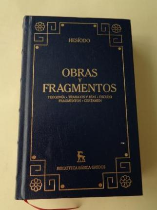 Obras y fragmentos (Teogonía - Trabajos y días - Escudo - Framentos - Certamen) - Ver os detalles do produto