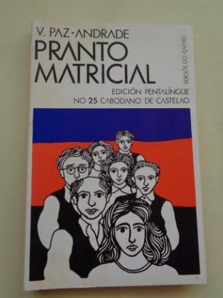 Pranto matricial. Edición pentalíngüe no 25 cabodano de Castelao - Ver os detalles do produto