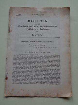 Boletín de la Comisión Provincial de Monumentos Históricos y Artísticos de Lugo. Nº 3, 1 julio de 1942 - Ver os detalles do produto