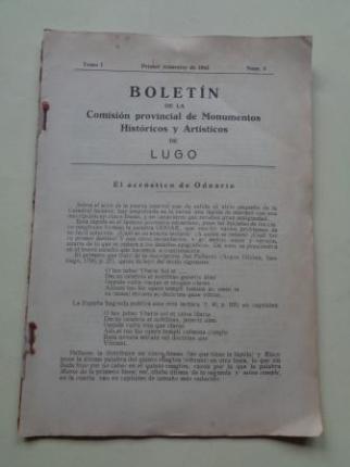 Boletín de la Comisión Provincial de Monumentos Históricos y Artísticos de Lugo. Nº 5, Primer trimestre de 1943 - Ver os detalles do produto