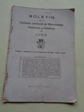 Boletín de la Comisión Provincial de Monumentos Históricos y Artísticos de Lugo. Números 10-11, Segundo y tercer trimestre de 1944 - Ver os detalles do produto