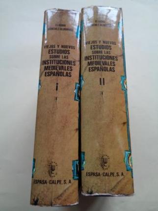 Viejos y nuevos estudios sobre las instituciones medievales españolas. 2 tomos - Ver os detalles do produto