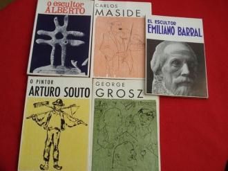 Lote de 5 libros: O escultor Alberto- Arturo Souto- George Grosz- Emiliano Barral- Carlos Maside - Ver os detalles do produto