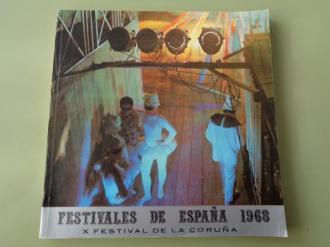 Festivales de España 1968. X Festival de La Coruña. IV Festival de Música. XVI de Amigos de la Ópera, 27 julio - 21 agosto, 1968 - Ver os detalles do produto