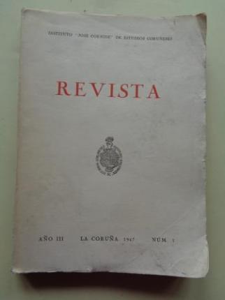 REVISTA. Instituto José Cornide de Estudios Coruñeses. Año III, Nº 3, 1967 - Ver os detalles do produto