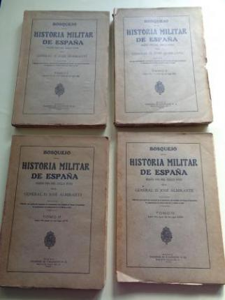 Bosquejo de la historia militar de España hasta el fin del siglo XVIII. 4 tomos (intonsos) - Ver os detalles do produto
