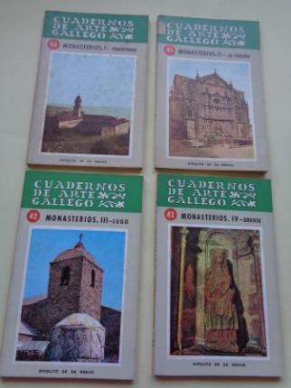 Cuadernos de arte Gallego. 4 libros. Monasterios. I: Pontevedra - II: La Coruña - III: Lugo - IV: Orense - Ver os detalles do produto