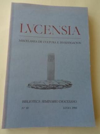 LUCENSIA. Miscelánea de cultura e investigación. Biblioteca Seminario Diocesano. Nº 10 - Lugo, 1995 - Ver os detalles do produto