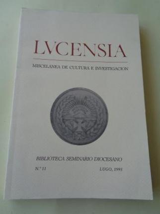 LUCENSIA. Miscelánea de cultura e investigación. Biblioteca Seminario Diocesano. Nº 11 - Lugo, 1995 - Ver os detalles do produto