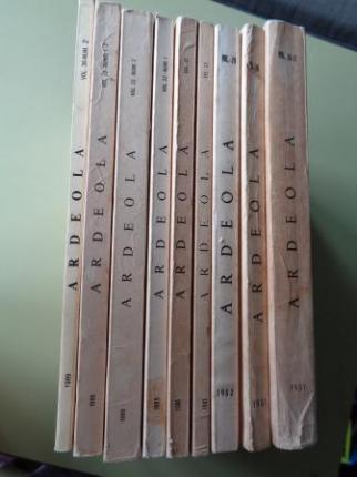 ARDEOLA. Revista Ibérica de Ornitología. 9 ejemplares. Volúmenes 26-27, 28, 29, 30, 31, 32-1, 32-2, 33, 36-2 - Ver os detalles do produto