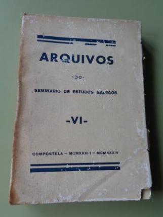 Arquivos do Seminario de Estudos Galegos VI (1ª edición, 1933, intonso) - Ver os detalles do produto