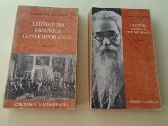 Literatura española contemporánea. Vol. I: Estudio crítico / Vol. II: Lecturas - Ver os detalles do produto