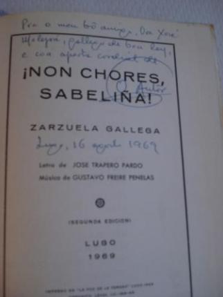 Non chores, Sabeliña (Zarzuela Gallega) - Ver os detalles do produto